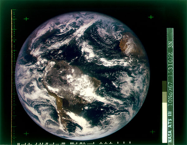 ATS-3 image of Earth