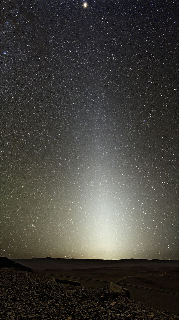 zodiacal light at Paranal