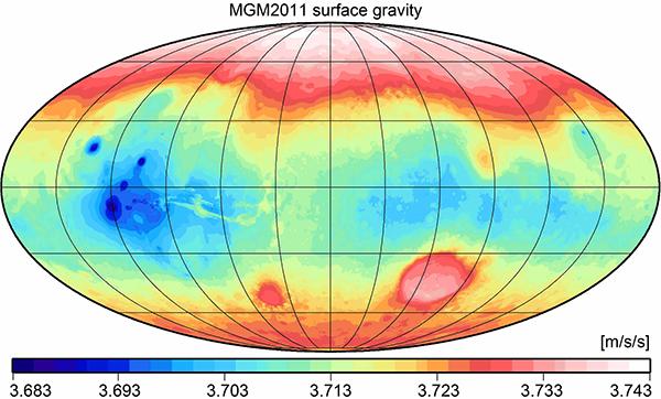 Mars Gravitational Model 2011