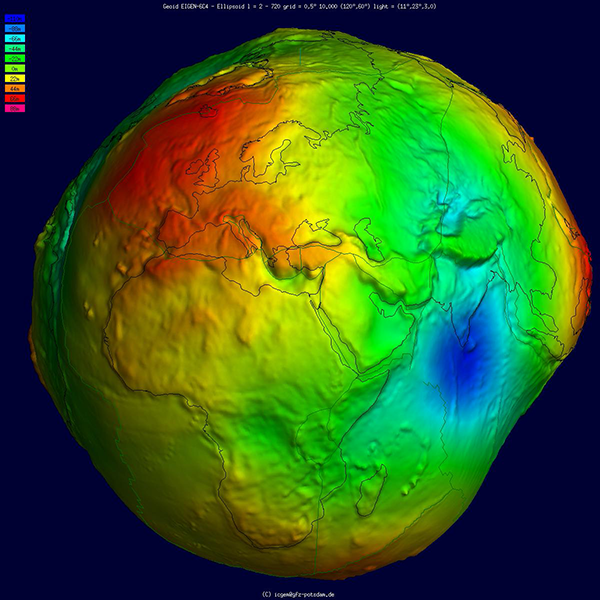 Diagram of the geoid