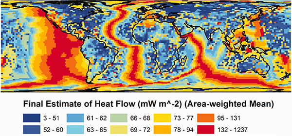 Mean heat flow out of the Earth