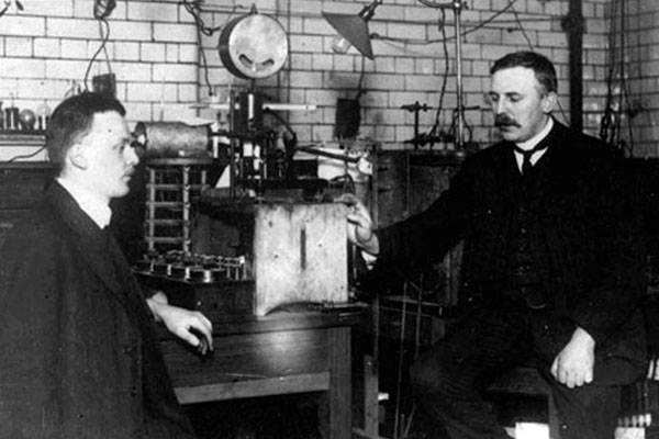 Ernest Rutherford with Hans Geiger