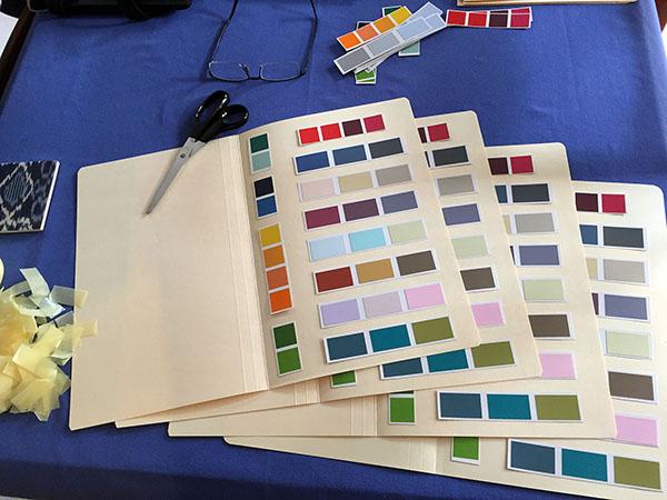 Colour swatch folders