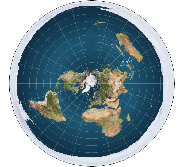 Disc shaped flat Earth