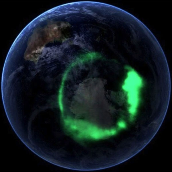 Southern auroral oval