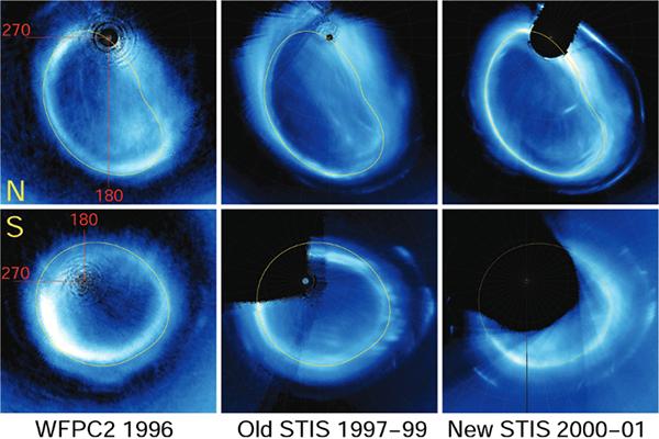 Northern auroral ovals on Jupiter