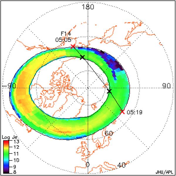Northern auroral oval