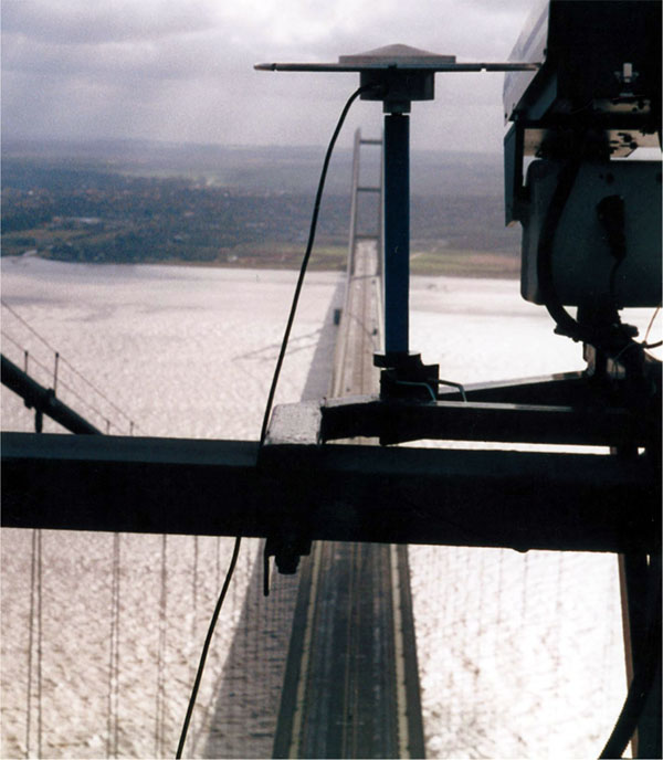 GPS sensor on Humber Bridge north tower