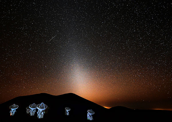 zodiacal light at Mauna Kea