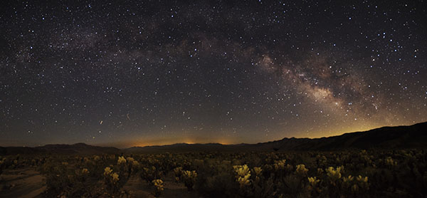 Skyglow from Cholla