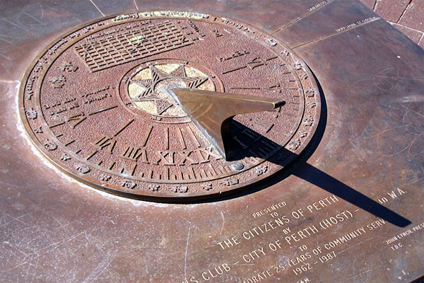 Sundial in Perth