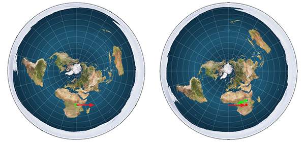 Dropping objects on a rotating flat Earth