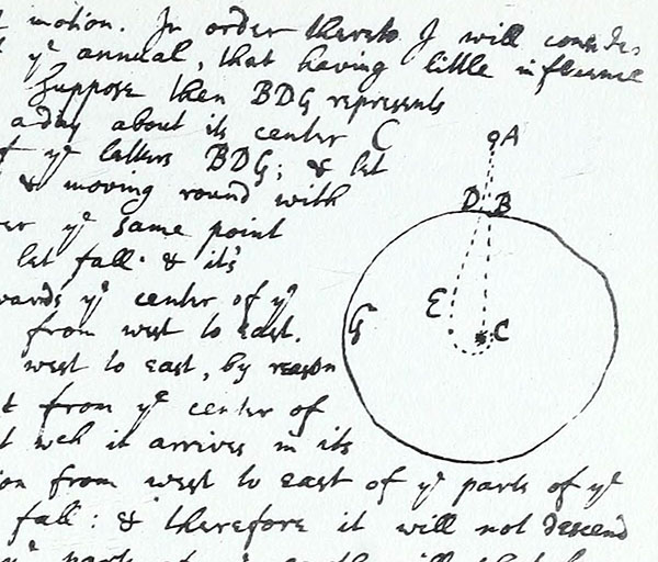 Diagram from Newton's letter