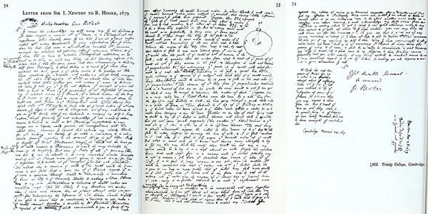 Newton's letter to Robert Hooke