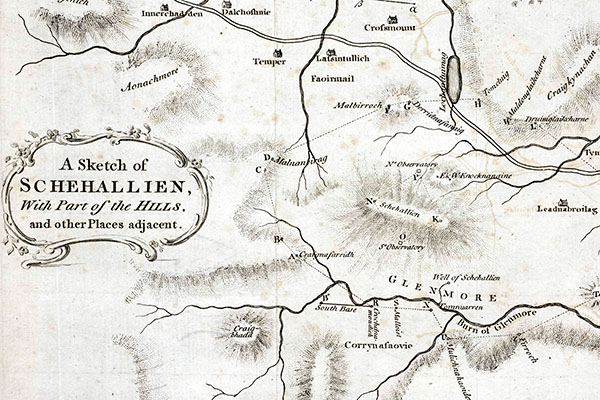 Map of Schiehallion and surrounds