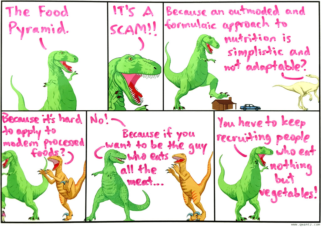 T-Rex's guide to good nutritional health