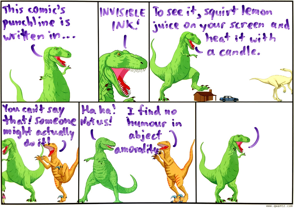 In which T-Rex plays a joke on the reader! Ha ha!