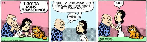 What Is Your Favourite Garfield Comic Strip Srb2 Message Board