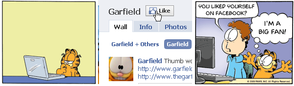 Garfield on Facebook