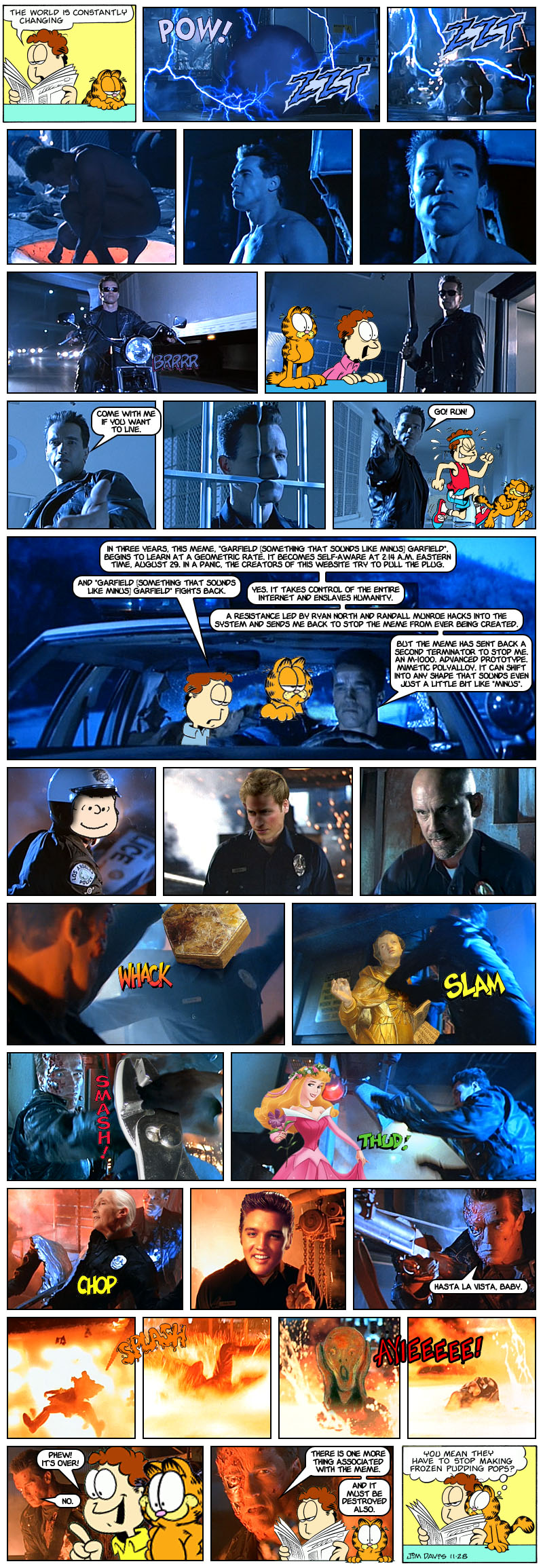 Garfield Skynet Garfield: Judgment Day