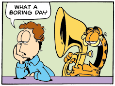 Garfield Minus Two Panels