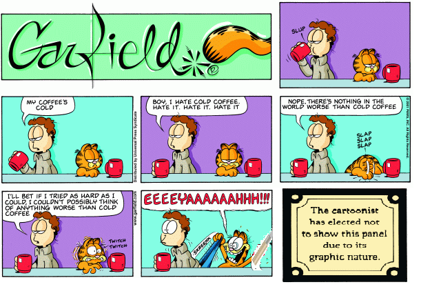 Garfield Plus Censored Violence