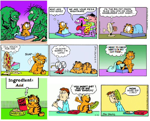 Garfield's Hallucinations (Warning: contains drug reference)
