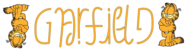 Ambigrammatical Garfield