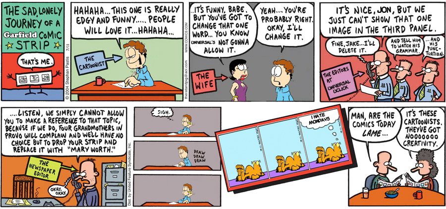 The Sad, Lonely Journey of a Garfield Comic Strip