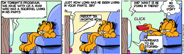 Garfield Pulled From the Trash