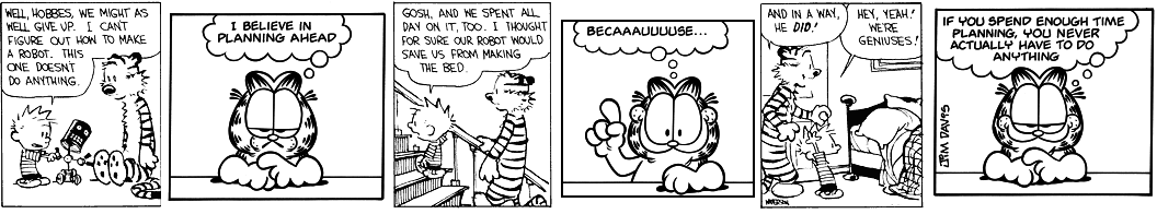 Square Root of Garfield Multipled by Calvin and Hobbes