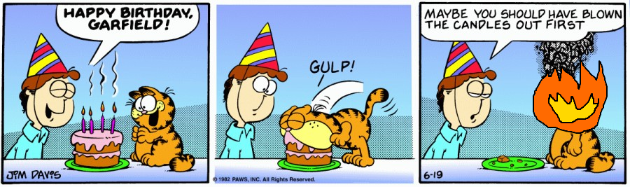 Garfield Birthday Cake Gif