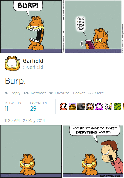 Garfield on Twitter Revised