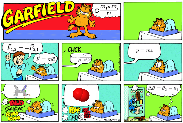 A Brave Cleaner, Diagrams, Equations, Food, & Garfield