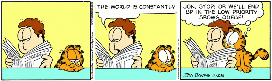 Garfield Attempts To Delay The Inevitable