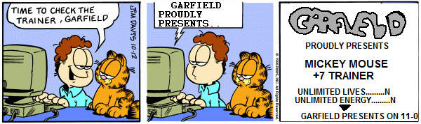Garfield Made His Own Cracktro