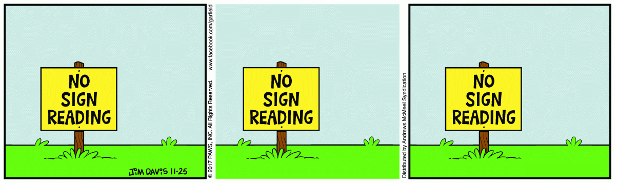 No Sign Reading