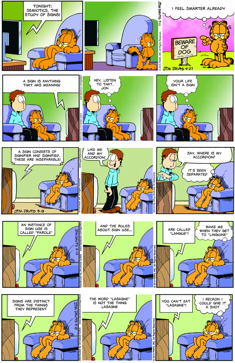 Linguistics with Garfield