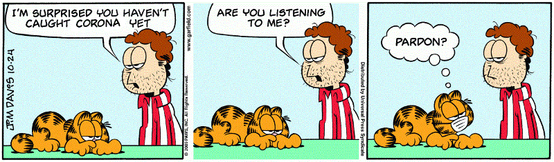 Garfield plus current events