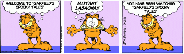 Square Root of Minus Garfield: Attack of the Mutant Lasagna
