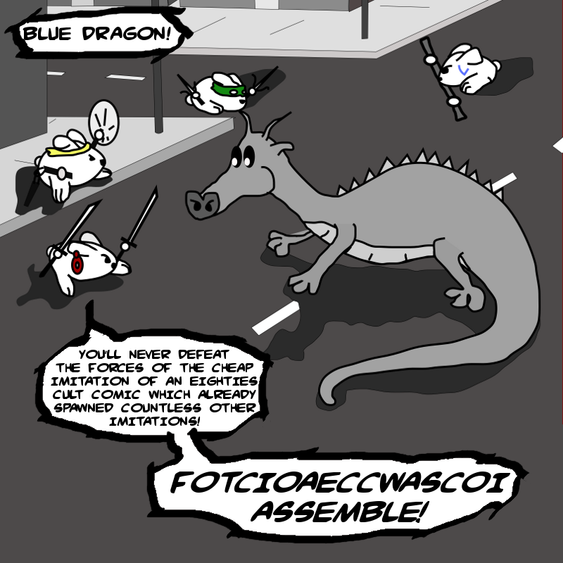 FOTCIOAECCWASCOI and the Blue Dragon: Part 3