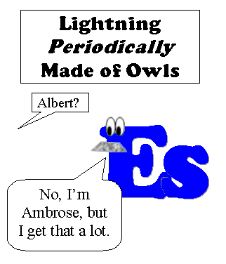 Lightning Periodically Made of Owls #3