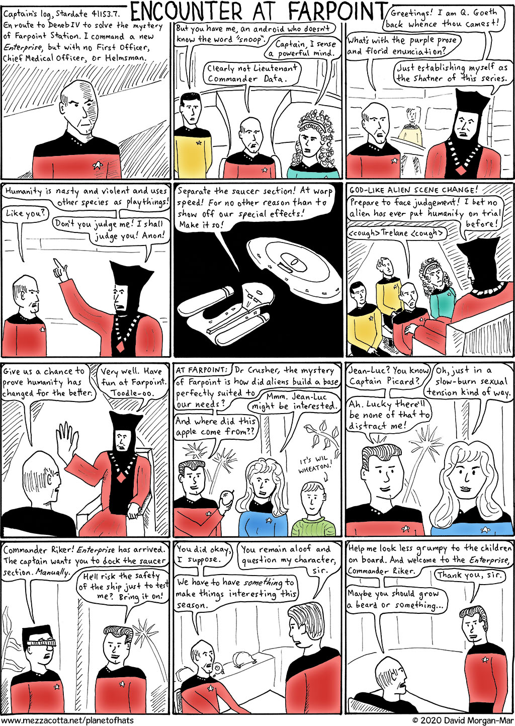 Episode TNG 1.1: Encounter at Farpoint, Part 1